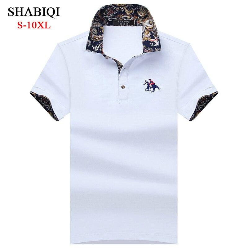 SHABIQI Classic Brand Men shirt Men Polo Shirt Men Short Sleeve Polos Shirt T Designer Polo Shirt Plus Size 6XL 7XL 8XL 9XL 10XL men plus size 4xl 5xl 6xl 7xl 8xl 9xl winter pant sport fleece lined softshell warm outdoor climbing snow soft shell pant