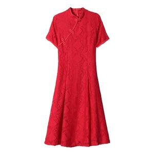 Image 3 - 夏のチャイナヴィンテージ中国女性エレガントなドレス刺繍の花嫁のウェディング袍チャイナ中国の伝統的なドレスレトロ