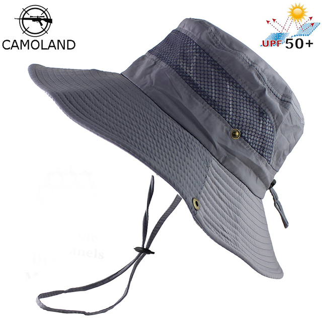 58b13d643e1 UPF 50+ Bucket Hat Summer Men Women Fishing Boonie Hats UV Protection Long Large  Wide