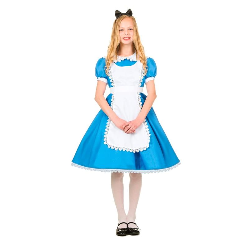 Child Girls Superme Alice Wonderland Halloween Costume In Girls