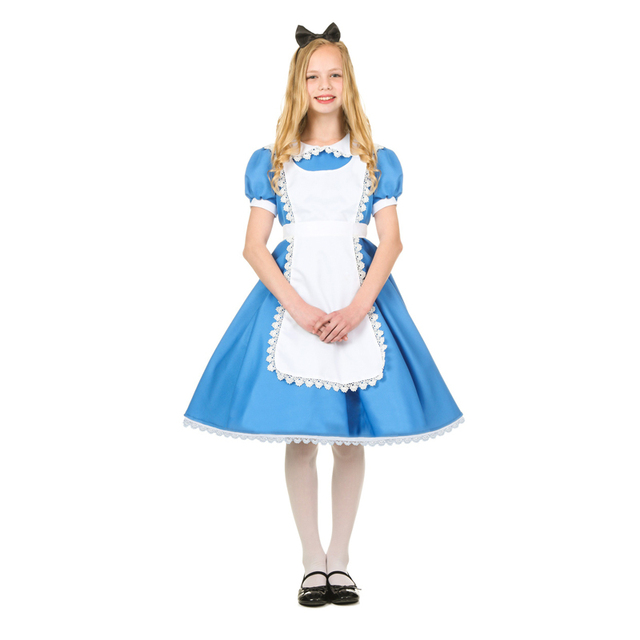 Child Girls Superme Alice Wonderland Halloween Costume  sc 1 st  AliExpress.com & Child Girls Superme Alice Wonderland Halloween Costume-in Girls ...