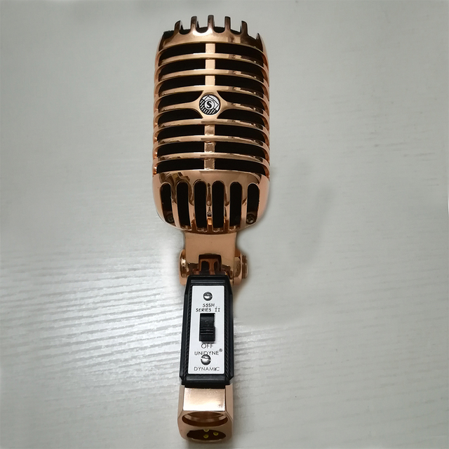 131306155 Metal 55SH Microphone Rose Gold Color Vocal Dynamic Retro Vintage Mic 55 sh  For Mixer Audio Studio Video Singing Recording