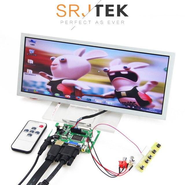 """SRJTEK 12,3 """"Pantalla LCD Monitor controlador de placa de control remoto LQ123K1LG03 VS-TY2662-V1 HDMI VGA 2AV para Raspberry Pi 3"""
