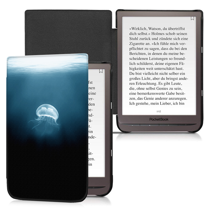 BoZhuoRui Fashion Ultrathin case for 7.8'' PocketBook 740 InkPad 3 PB740 E-Book with Auto Wake/Sleep cover case for pocketbook 740 7 8 inch e book 740 inkpad 3 smart protective shell tablet case gifts