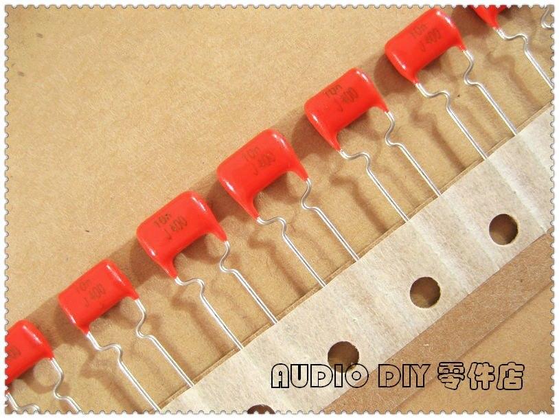 20pcs/100pcs MKT365 capacitor de filme 0.01uF 400V 400V0.01uF 5% pé cobre 10nF 400V10nF 103 400V103