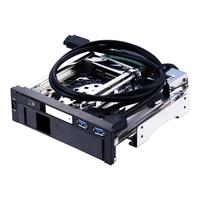 Hot ST7223UB 2 USB3.0 Port Dual Bay Internal 2.5+3.5inch SATA III HDD SSD Tray Caddy