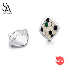SA SILVERAGE The Queen of Snake Earrings New Arrival 925 Sterling Silver Three Colors Snake Stud Earrings for Woman 925 Silver sa silverage hexagon shape drop earring for woman 925 sterling silver green blue color 925 silver drop earrings jewelry earring