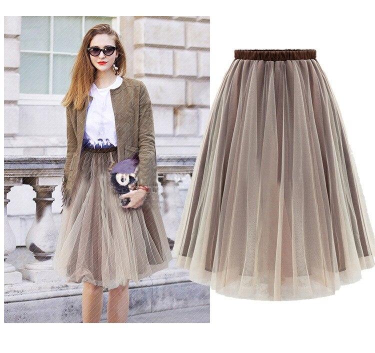 Коричневая женская юбка