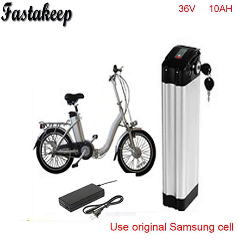 ebike 36v battery electric bike battery 36V 10Ah for 36V bafang/8fun 500w motor with Aluminium Case+ BMS +Chargrer