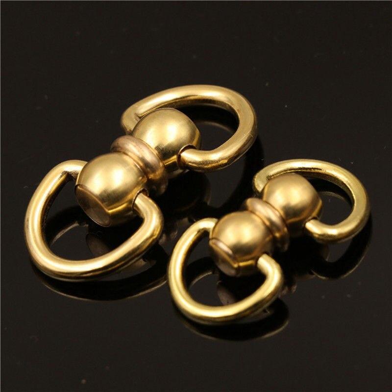 1 шт. Твердый латунный поворотный глаз, поворотный разъем, двухстороннее D-образное кольцо для брелока, кольцо для ключей, кошелек, Соедините...