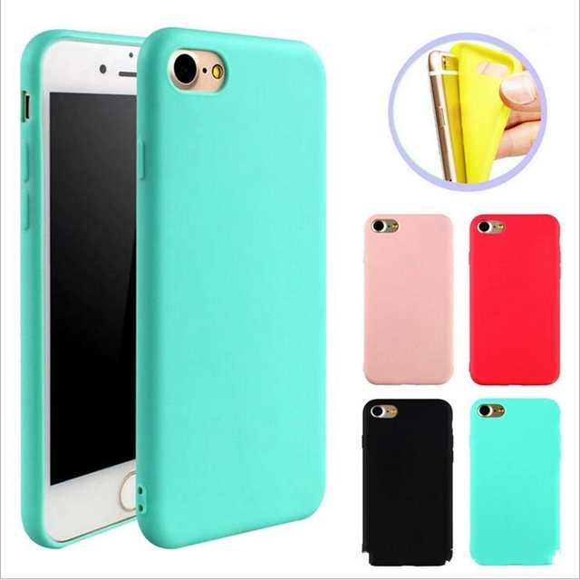 for iphone 7 8 plus iphone8 7plus 6splus Case Candy Soft Silicone Coque for iphone  6s 6 Plus iphone X 10 6 s 5 5S SE Back Cover 9a09bdb1b949