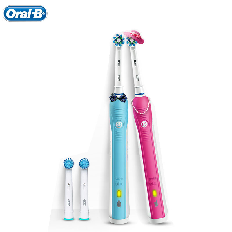 Oral B Electric Toothbrush Pro600 3D Brushing Replaceable Brush Heads Oral Hygiene Adult Teeth Whitening Rechargeable Toothbrush image