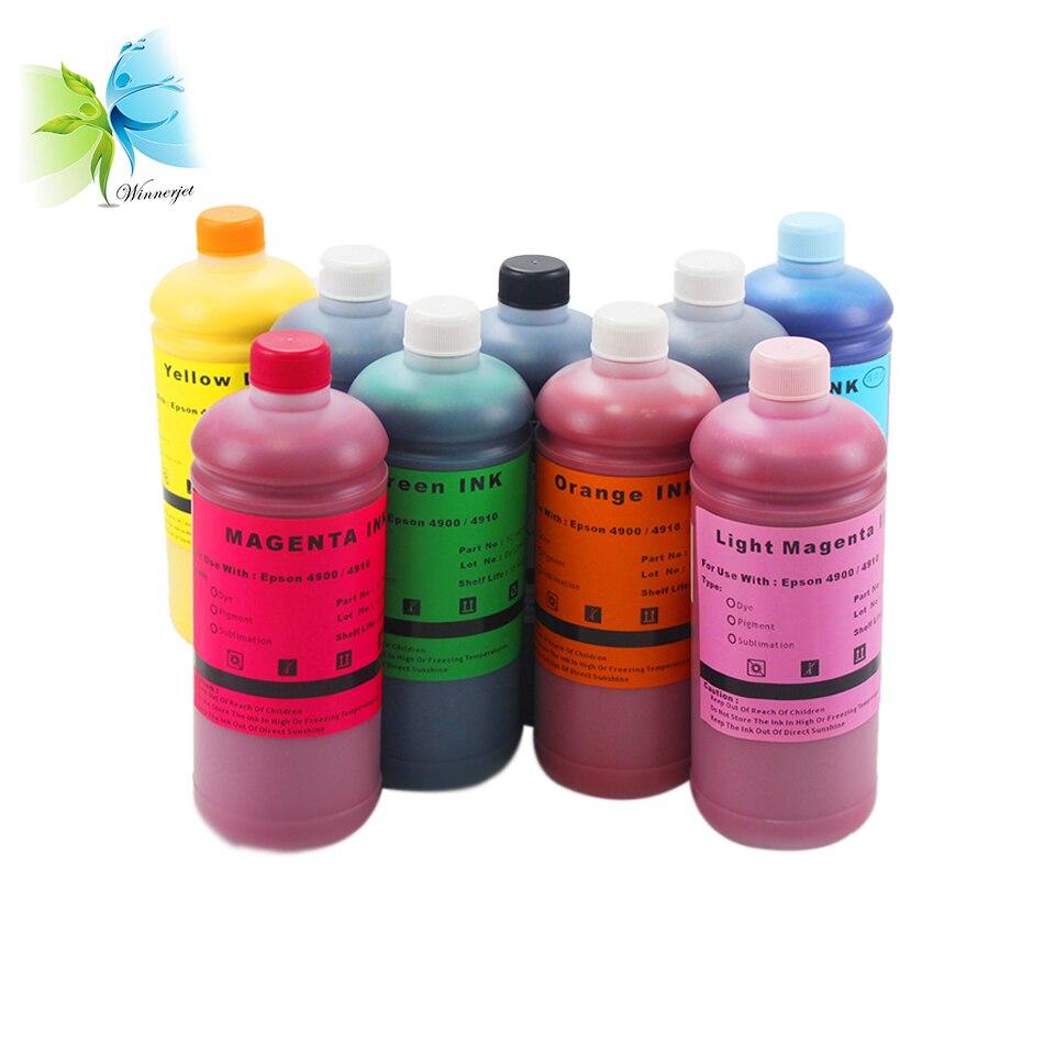 WINNERJET 1000ml Pigment Inks for Epson Stylus Pro 4900 Printer in Ink Refill Kits from Computer Office