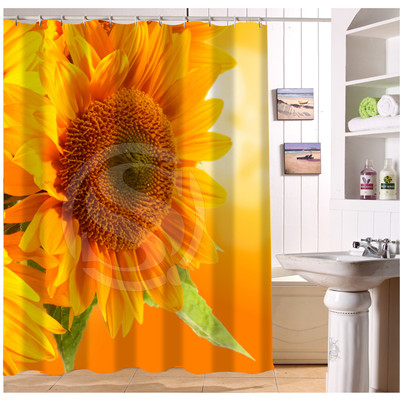 U412 51 Custom Home Decor Yellow Sunflowers Nature Fabric Modern Shower  Curtain European Style Bathroom