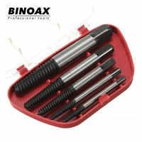 BINOAX 5 unids/set de acero de velocidad rota Extractor de tornillo dañado juego de guía de broca de tornillo roto removedor fácil de sacar