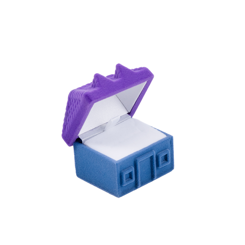 Us 173 13 Offaliexpresscom Buy Creative House Shaped Jewelry Box Purple Color Necklace Ring Earring Boxes For Gift Packing Display Case From