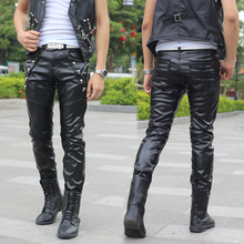 Осенне-зимний бархатные утепленные ветрозащитные кожаные штаны, мужские брюки Chandal, штаны в стиле хип-хоп с заклепками