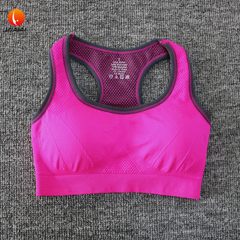 Lijalai women yoga bra sexy sport top running shockproof padded push up high impact quick dry fitness clothing ladies sportswear