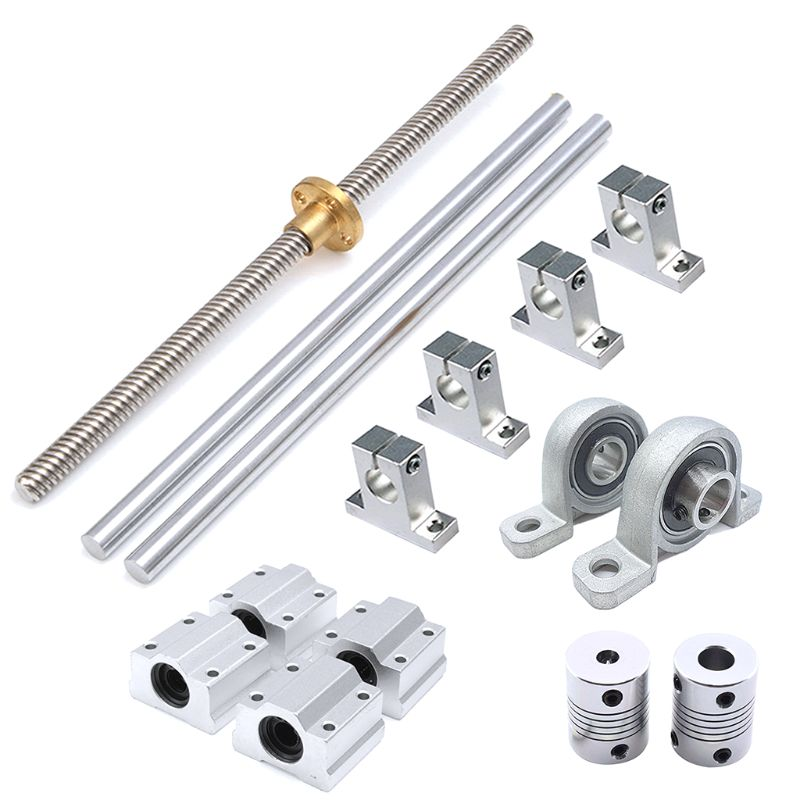 Optical Axis Guide Bearing Housings Aluminum Rail Shaft Lead Screw Rod Slide Bushing Shaft Coupling CNC Parts|Shaft Couplings| |  - title=