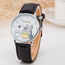 Милые часы с рисунком Тоторо, женские модные кварцевые часы с ремешком из искусственной кожи, роскошные Брендовые женские наручные часы, часы