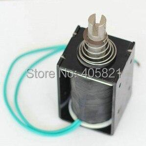 24V 10mm Stroke 6.5kg 80N force Electromagnet Solenoid dc24v 1a 10mm stroke 150g froce spring load electric solenoid electromagnet xwj
