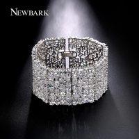 NEWBARK Bracelets Bangles Luxury Bracelets Femme Charms Full CZ Pulseira Feminina European Style Austrian Crystals New