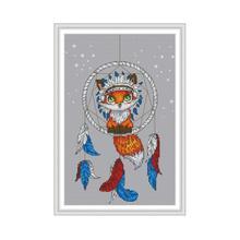 Joy Sunday Little Fox Cross Stitch Pattern 11ct Printed On Canvas DMC Embroidery Floss 14ct Counted Aida Needlework