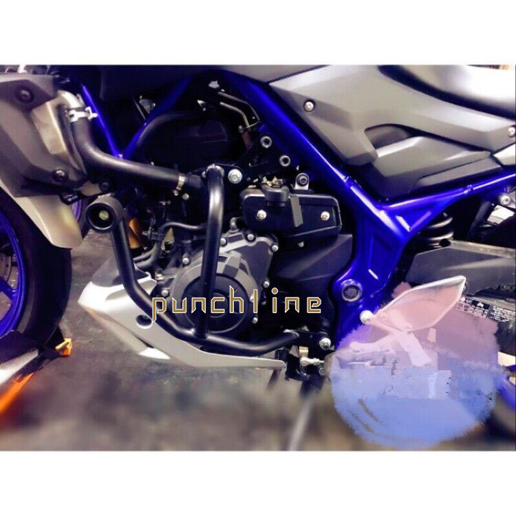 US $180 49 5% OFF For YAMAHA YZF R3 YZF R25 MT 03 Motorcycle Front Upper  Engine Guard Highway Refit Tank Protection Crash Bar Frame Protector -in