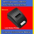 2014 Caliente! 58mm puerto usb de alta velocidad de Bajo Ruido Mini Impresora Térmica de Recibos Pirnter pos impresora Envío gratis