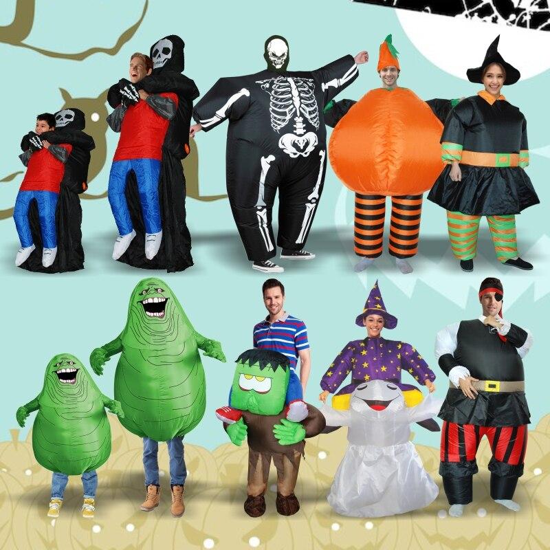 Nuevo adultos inflable Horrible paseo en traje Halloween Cosplay traje de Halloween para las mujeres