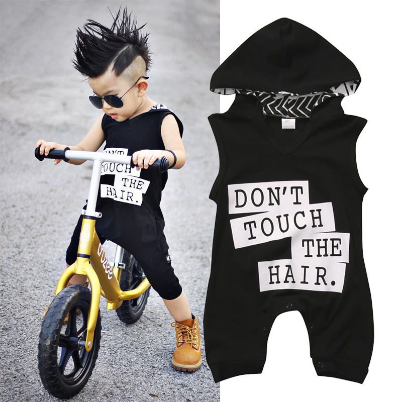 Fashion Stylish Long   Rompers   Hoodies Toddler Baby Kids Boys Sleeveless Outfit Clothes Cotton Newborn   Romper   Jumpsuit 0-3Y