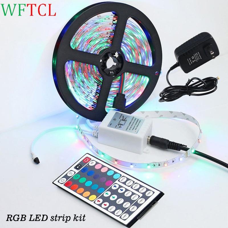 WFTCL LED Light strips Super bright LED 5050/2835 RGB/Monocolor LED tape light kit for Cove, cabinet, kitchen, ceiling lighting