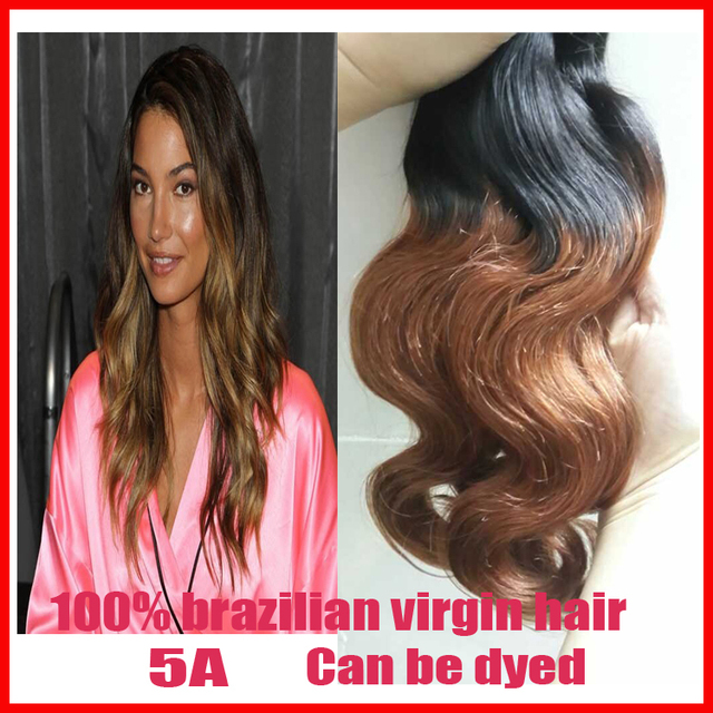 Top 5a Brazilian Virgin Hair Weaves 1b 30 Body Wave Two Tone Human