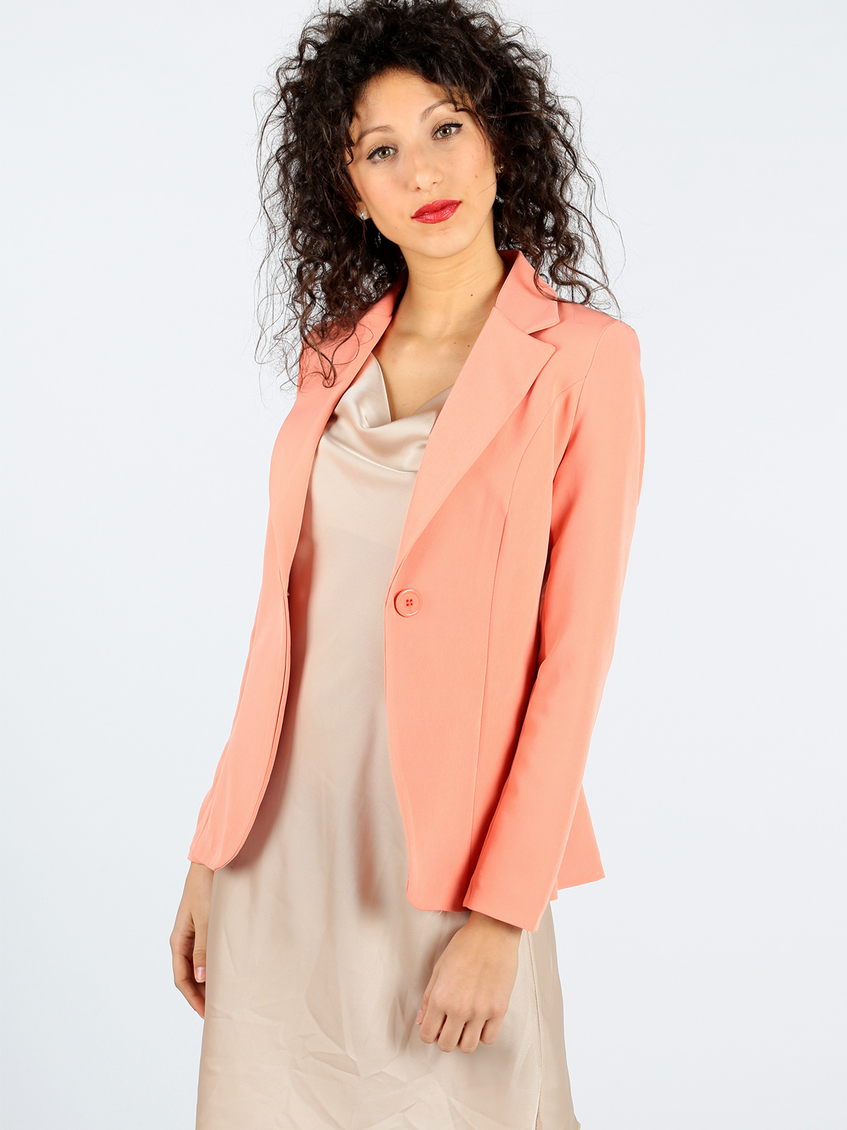Elegant Jacket Waisted Woman