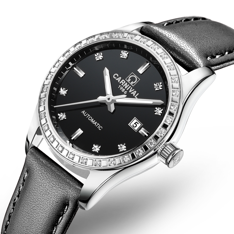 Schweiz Karneval Frauen Uhren Luxus Marke damen Automatische Mechanische Uhr Frauen Wasserdichte relogio feminino 8685L 17-in Damenuhren aus Uhren bei  Gruppe 1
