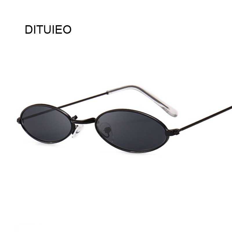 Fashion Women Sunglasses Famous Oval Sun Glasses Female Luxury Brand Metal Round Rays Frames Black Small Cheap Eyewear Oculos