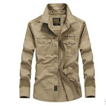 купить 2018 Spring men's high quality military casual brand long sleeve shirt man autumn 100% cotton afs jeep army green shirts XS-4XL дешево
