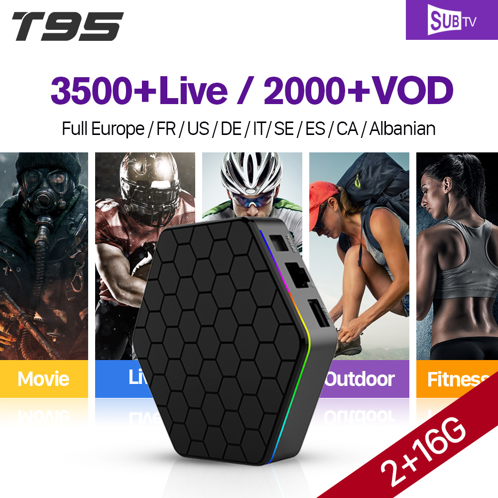 T95Z Plus IPTV French Box Android 7.1 2G 16G S912 SUBTV IPTV France Sports Arabic HD VOD Movies Series French IPTV Subscription movie iptv
