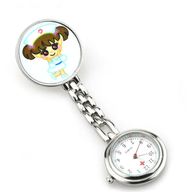 Fashion Simple Clip-on Fob Quartz Brooch Hanging Nurse Fob Watch Full Steel Pocket Watch Men Women's Gift new luxury round dial clip on fob nurse pocket watch quartz brooch hanging fashion men women luminous pin watch steel relogio