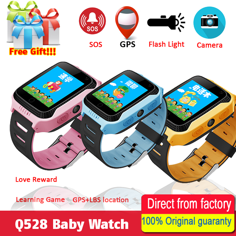 Новинка 2017 года q528 Y21 Сенсорный экран Дети GPS часы с Камера Освещение Смарт-часы сна Мониторы GPS sos детские часы PK Q750 q90