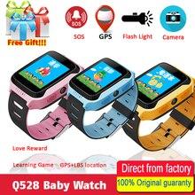 Купить онлайн Q528 Y21 Сенсорный экран Дети gps часы с Камера освещение Смарт-часы монитор сна gps SOS детские часы PK Q750 Q90