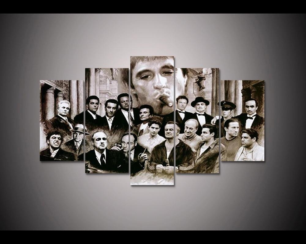 Moive poster 5 panel HD gedruckt leinwand malerei pate Moderne ...