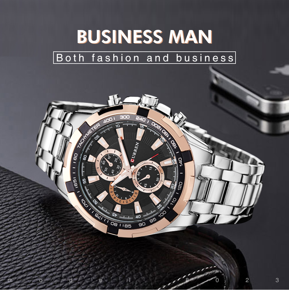 Man Watch NEW Top Brand Luxury Mens Sport Watches Waterproof Stainless Steel Man Quartz Watch Relogio Masculino 8023 CURREN