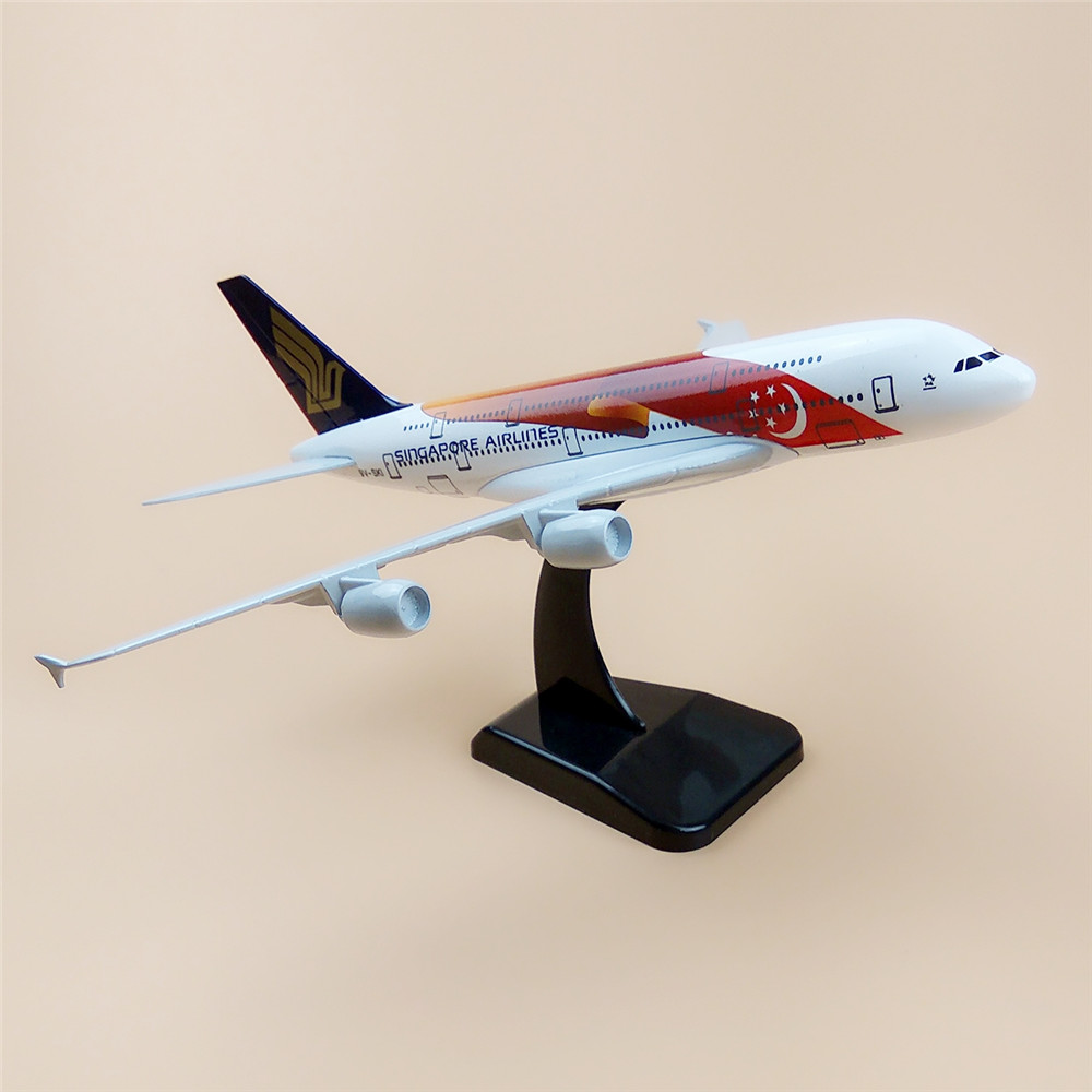 20cm air singapore airlines airbus 380 a380 airplane model star moon