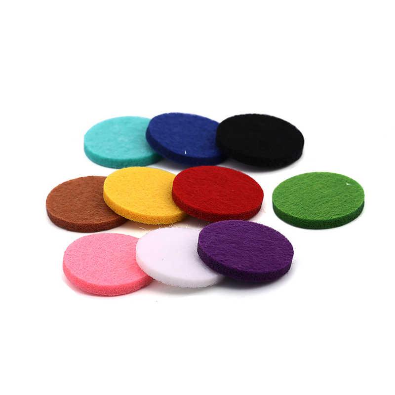 20 pçs/saco Almofadas de Feltro para Aromaterapia Colar Pulseiras Chaveiros Anéis Botões em minha loja