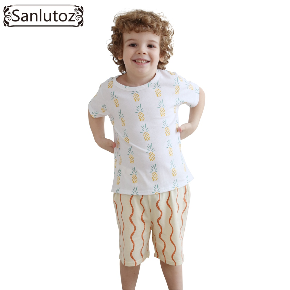 Niños ropa verano niños ropa set algodón niños ropa marca Sport Trajes para Niños  niño bebé (camisetas + Pantalones cortos) 2016 729a9f2a112