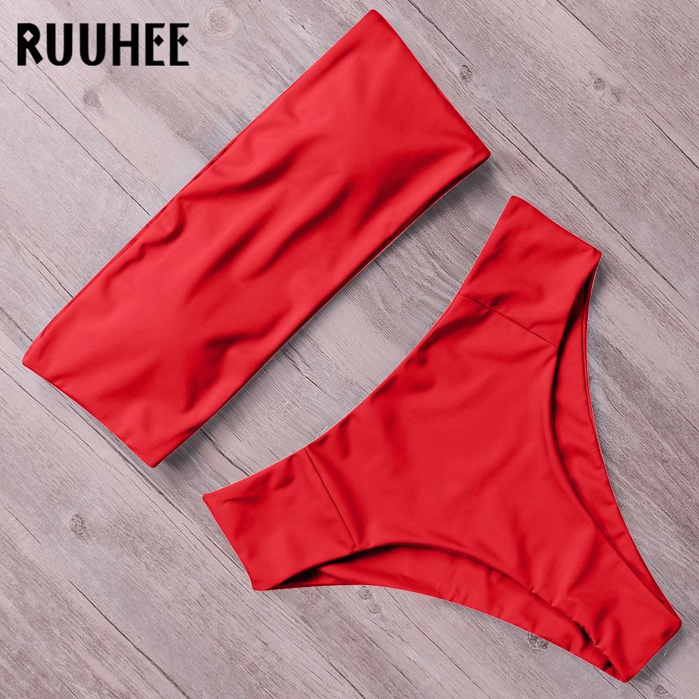 HTB1QaefX1H2gK0jSZJnq6yT1FXao RUUHEE Bandage Bikini Swimwear Women Swimsuit High Waist Bikini Set 2019 Bathing Suit Push Up Maillot De Bain Femme Beachwear