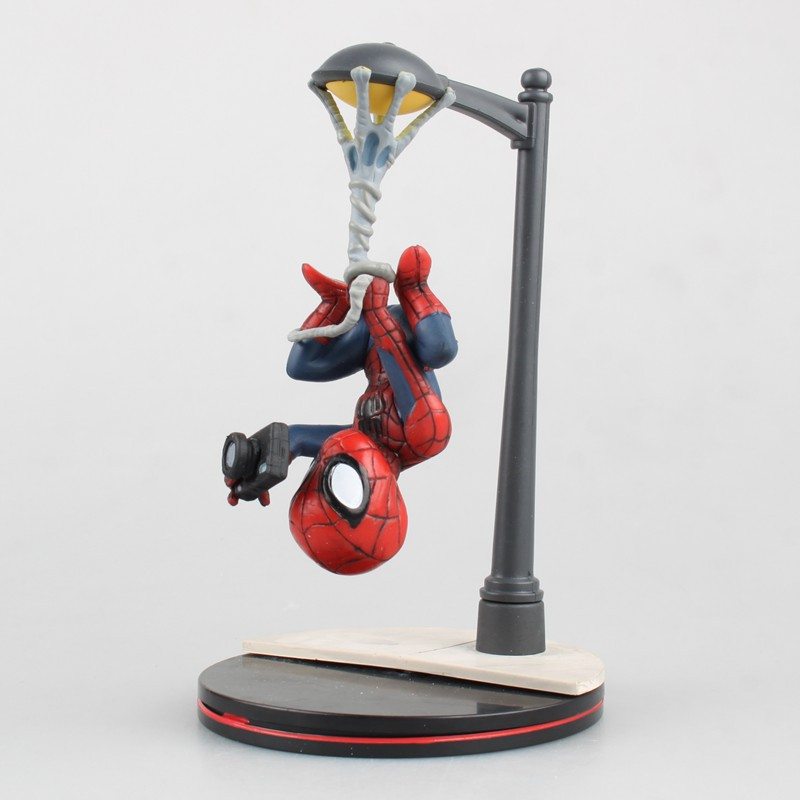 NEW hot 14cm Avengers spider-man Homecoming Scene version action figure toys Spiderman Christmas gift doll with box