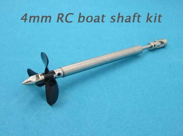 Spedizione Gratuita Barca RC Kit Albero 4mm Motore Albero Motore Con Viti 250/300mm Pezzi di Ricambio Per Barca del RC