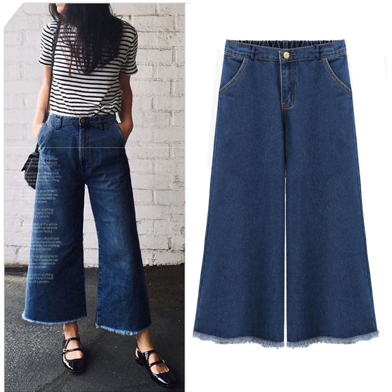 2017 New Jeans Woman Large Size Wide Leg Pants Xxl Cotton Loose High Vintage Casual Harem Pants Softener Jean Femme Rushed hot new large size jeans fashion loose jeans hip hop casual jeans wide leg jeans